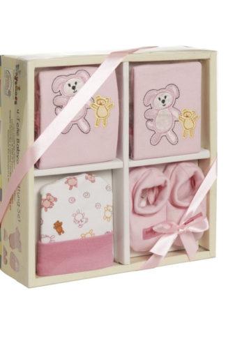 Set 4 piese bebelusi roz